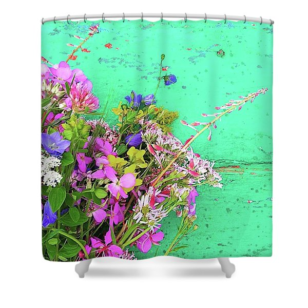 Wild Flowers From Norway Shower Curtain