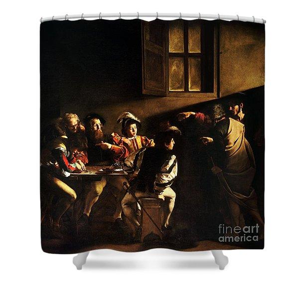 The Calling Of Saint Matthew Shower Curtain