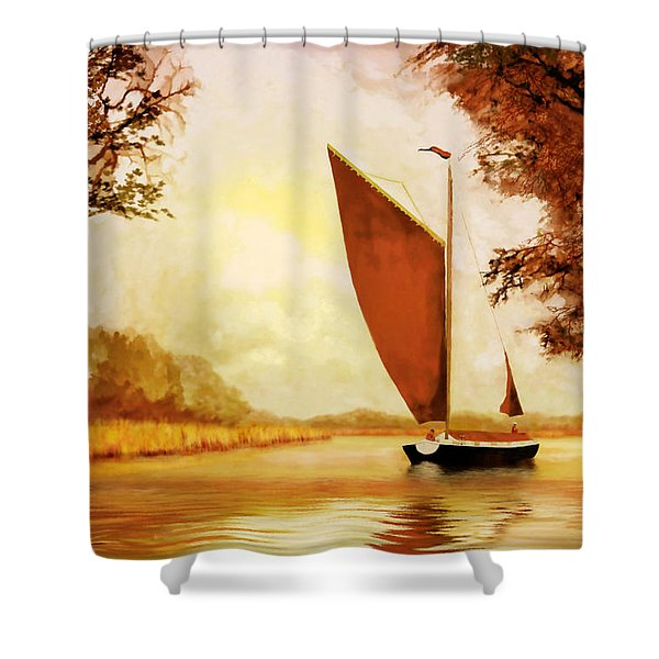The Wherry Albion Shower Curtain