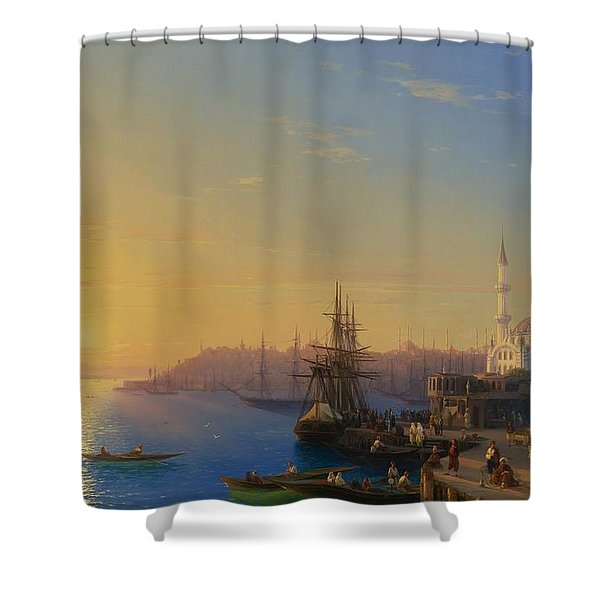 View Of Constantinople And The Bosphorus Shower Curtain