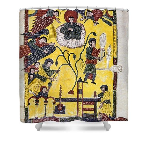 Spain: Grape Harvest Shower Curtain