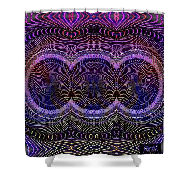 Shower Curtain featuring the digital art #012820153 by Visual Artist Frank Bonilla