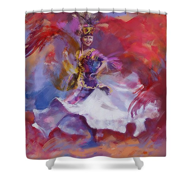 014 Kazakhstan Culture Shower Curtain