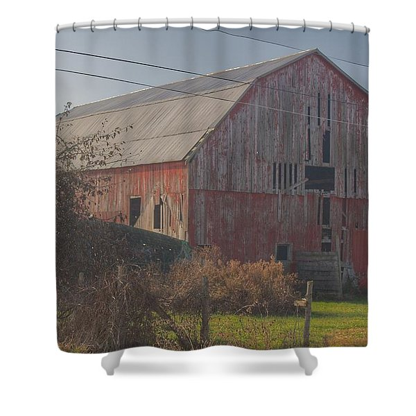 0153 - Dodge Road Red I Shower Curtain