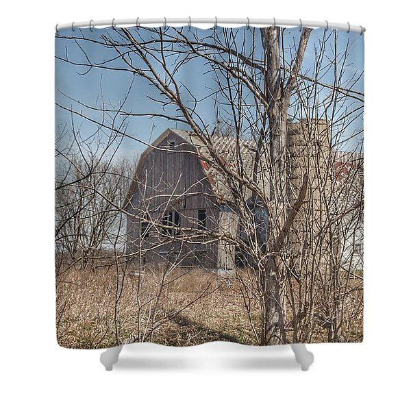 0162 - Hill Road Grey I Shower Curtain