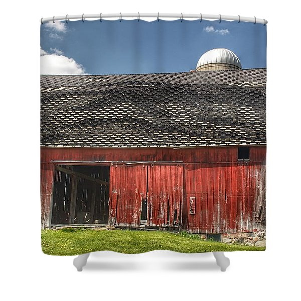 0181 Hollenbeck Road Red II Shower Curtain
