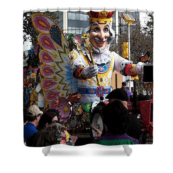 020916 Digital Water Color Mardi Gras Shower Curtain
