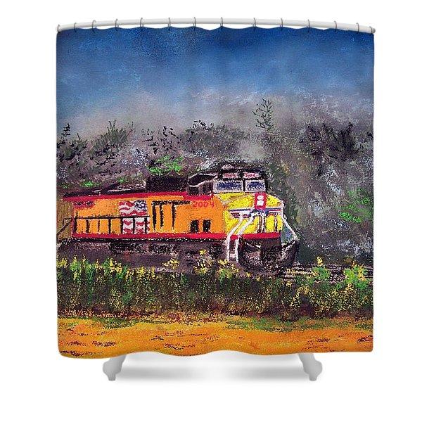 021216 East Bound Shower Curtain
