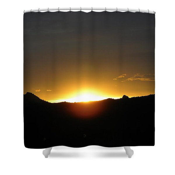 Sunrise West Side Of Rmnp Co Shower Curtain