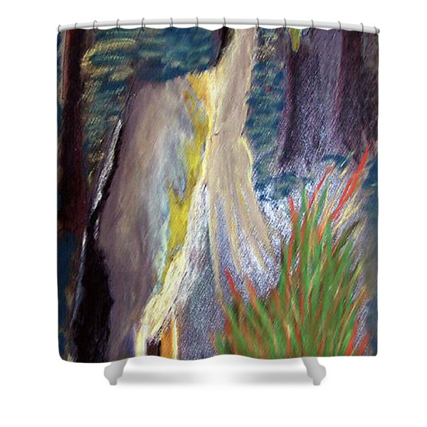 052916 Blue Heron Shower Curtain