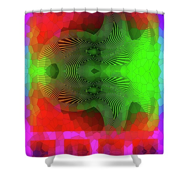 Shower Curtain featuring the digital art #061120172 by Visual Artist Frank Bonilla