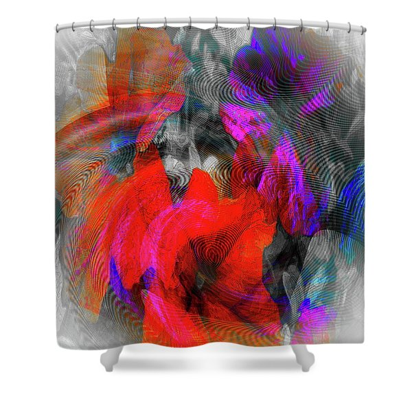 Shower Curtain featuring the digital art #062320172 by Visual Artist Frank Bonilla