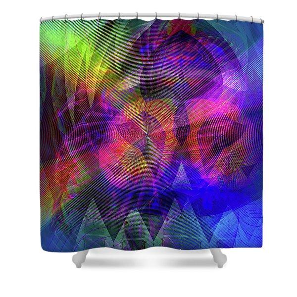 Shower Curtain featuring the digital art 071020172 by Visual Artist Frank Bonilla