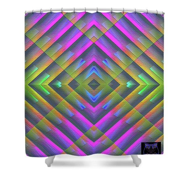 Shower Curtain featuring the digital art 071202174 by Visual Artist Frank Bonilla
