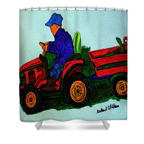 090915 Plowing Back Fourty Shower Curtain
