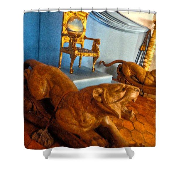 Pubol Spain Gala Castle Shower Curtain