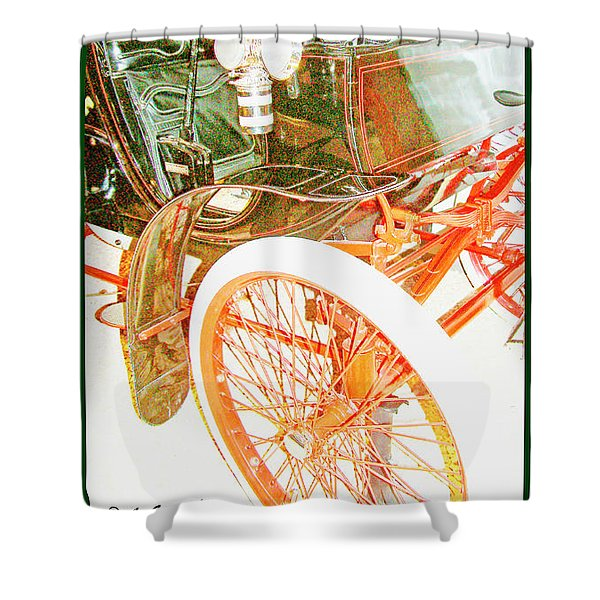 1900 Packard Runabout, National Automobile Museum, Reno, Nevada Shower Curtain