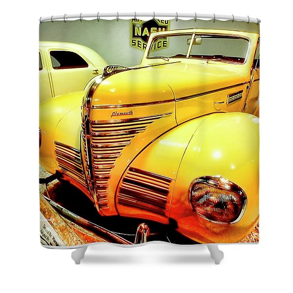 1939 Plymouth, Classic Automobile Shower Curtain
