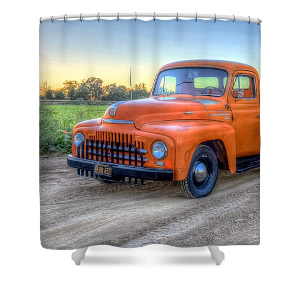 1951 International  Shower Curtain