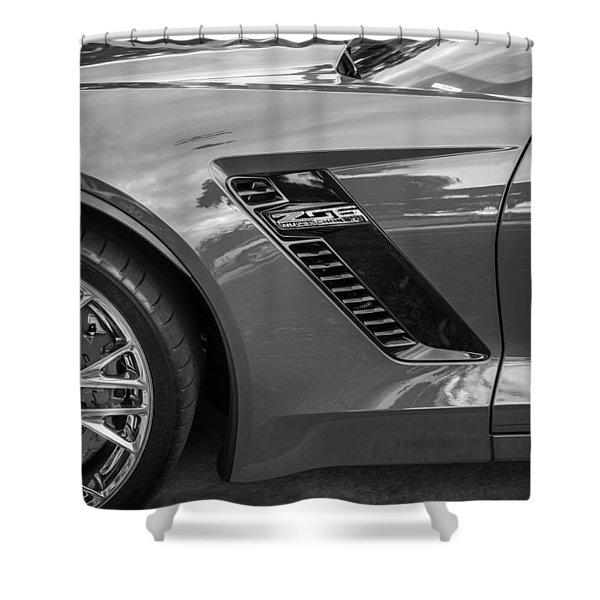 2015 Chevrolet Corvette Z06 Painted  Shower Curtain