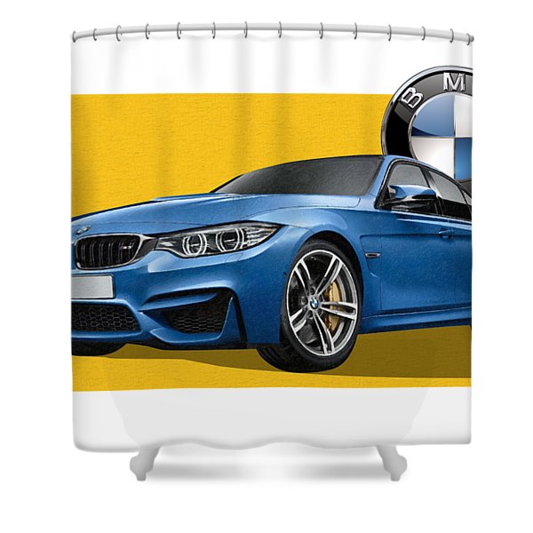 2016  B M W  M 3  Sedan With 3 D Badge  Shower Curtain