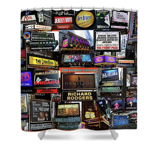 2016 Broadway Fall Collage Shower Curtain