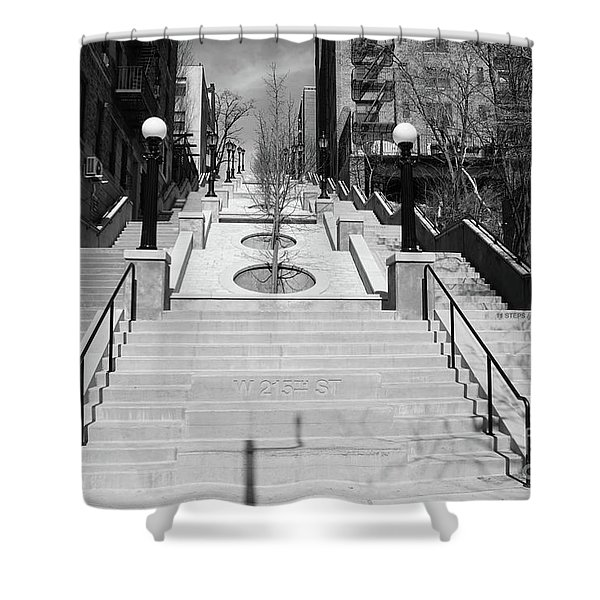 215th Street Stairs Shower Curtain