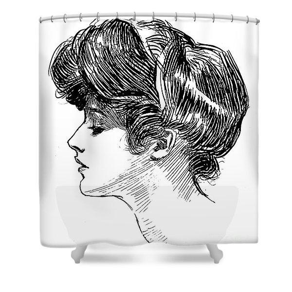 A Gibson Girl Shower Curtain