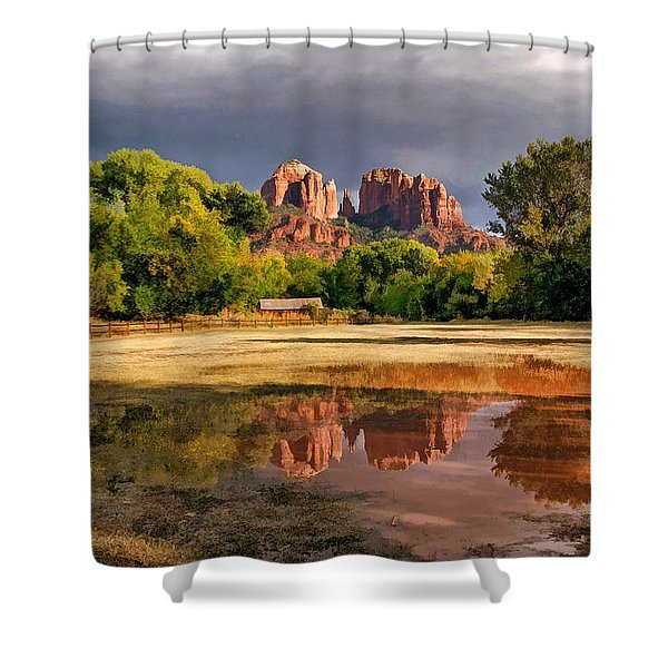 A Light In Darkness Shower Curtain