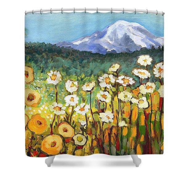 A Mountain View Shower Curtain