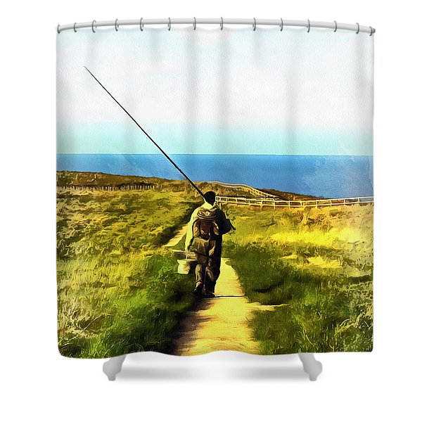 A Plaice To Fish Shower Curtain