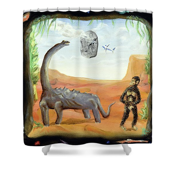 Abiogenesis Shower Curtain