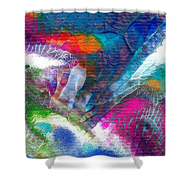 Abstract 10115a Shower Curtain
