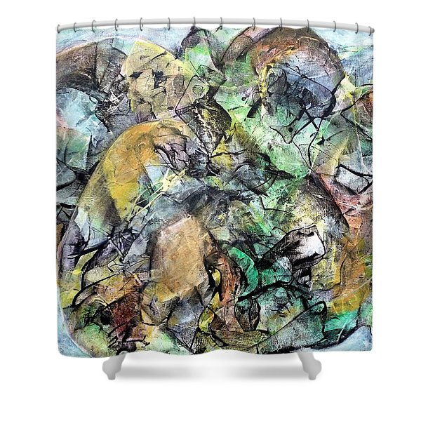 Abstract #331 - Gone With The Wind Shower Curtain