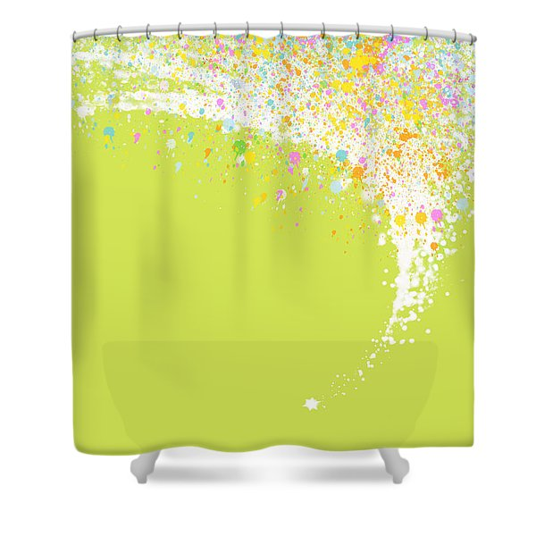Abstract Curved Shower Curtain