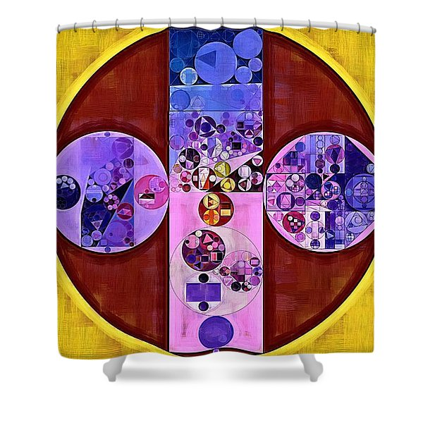 Abstract Painting - Blackberry Shower Curtain