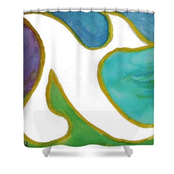 Aleph Alive Shower Curtain
