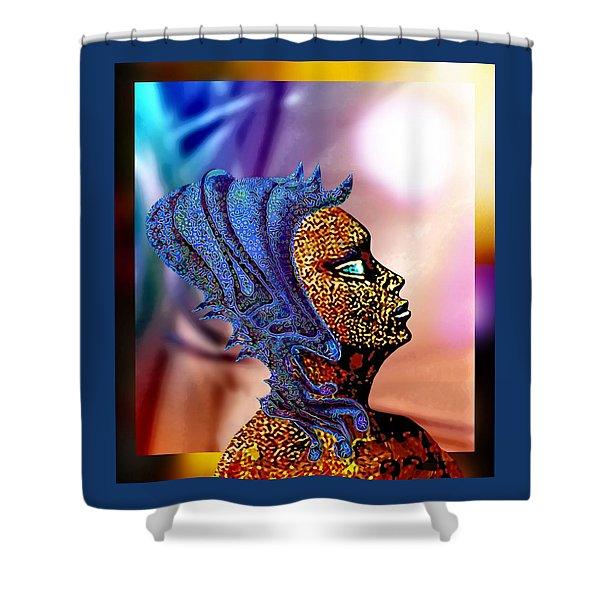 Alien Portrait Shower Curtain