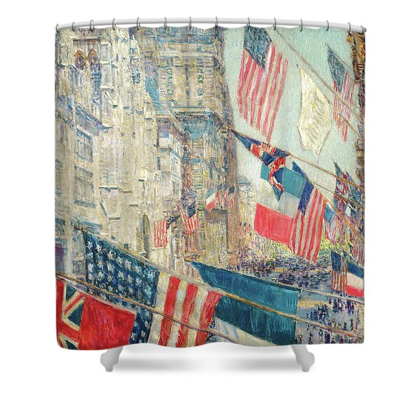 Allies Day - May 1917 Shower Curtain