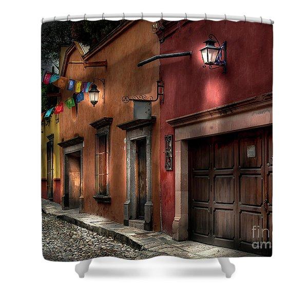 1 A.m. Street Photo Shower Curtain