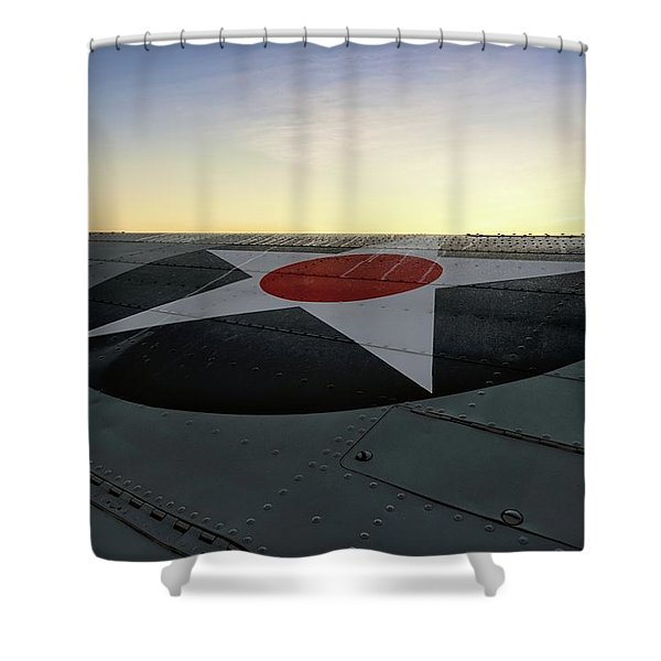 American Morning Shower Curtain