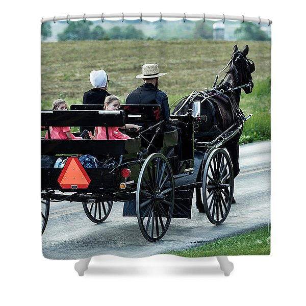 Amish Family Shower Curtain