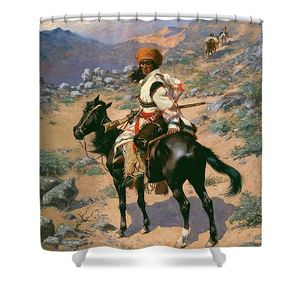 An Indian Trapper Shower Curtain
