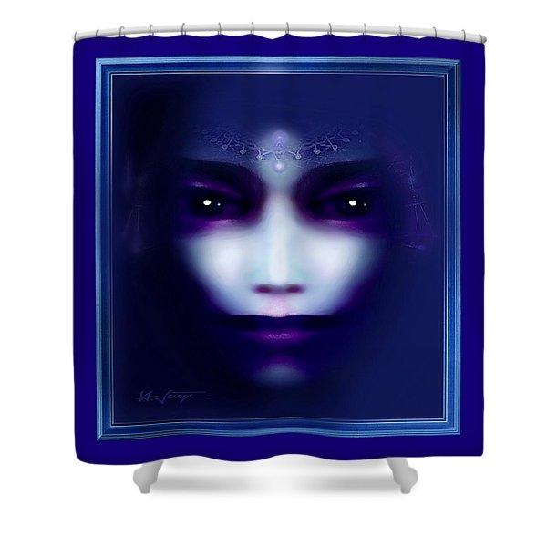 Angel  Blue Shower Curtain