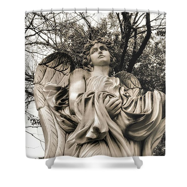 Angel In The Fall Shower Curtain