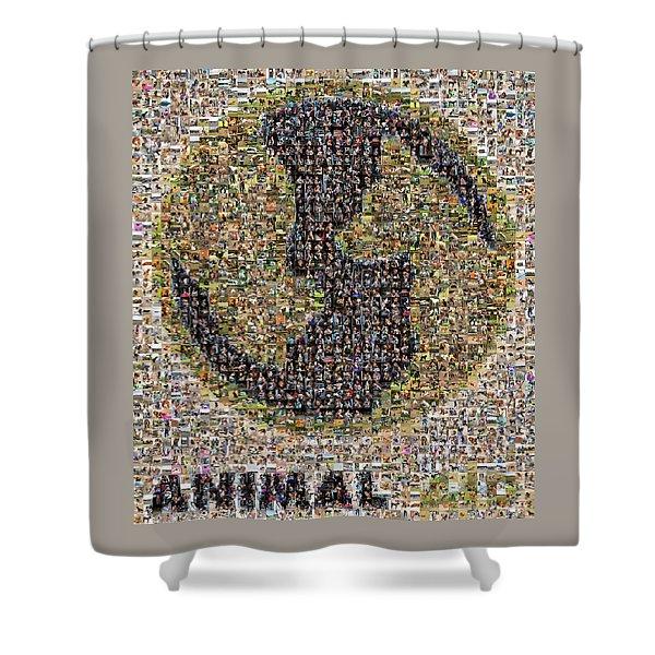 Animal Aid 2017  Shower Curtain