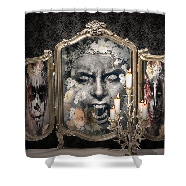Antique Vampire Paintings Shower Curtain