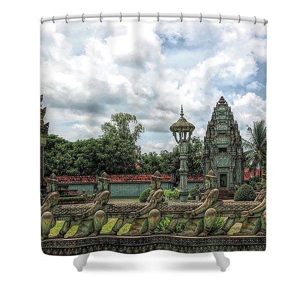 Architecture Khmer Cambodia  Shower Curtain