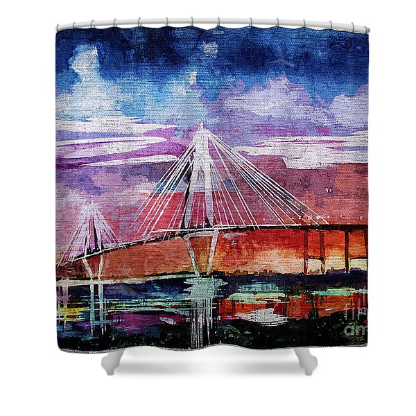 Arthur Ravenel Jr Bridge Charleston Shower Curtain