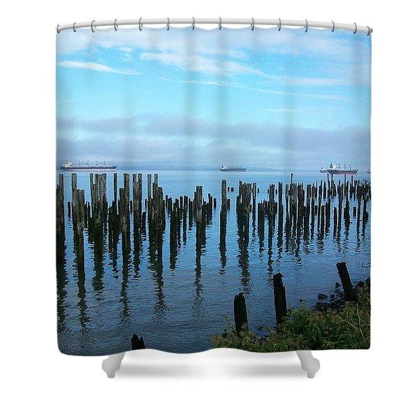 Astoria Ships II Shower Curtain